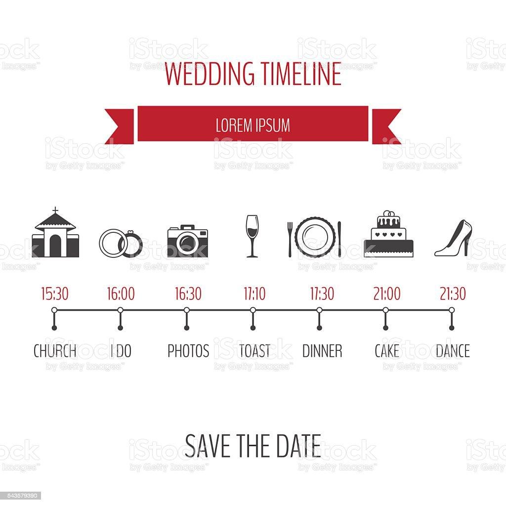 Wedding Timeline Infographic Stock Vector Art & More ...