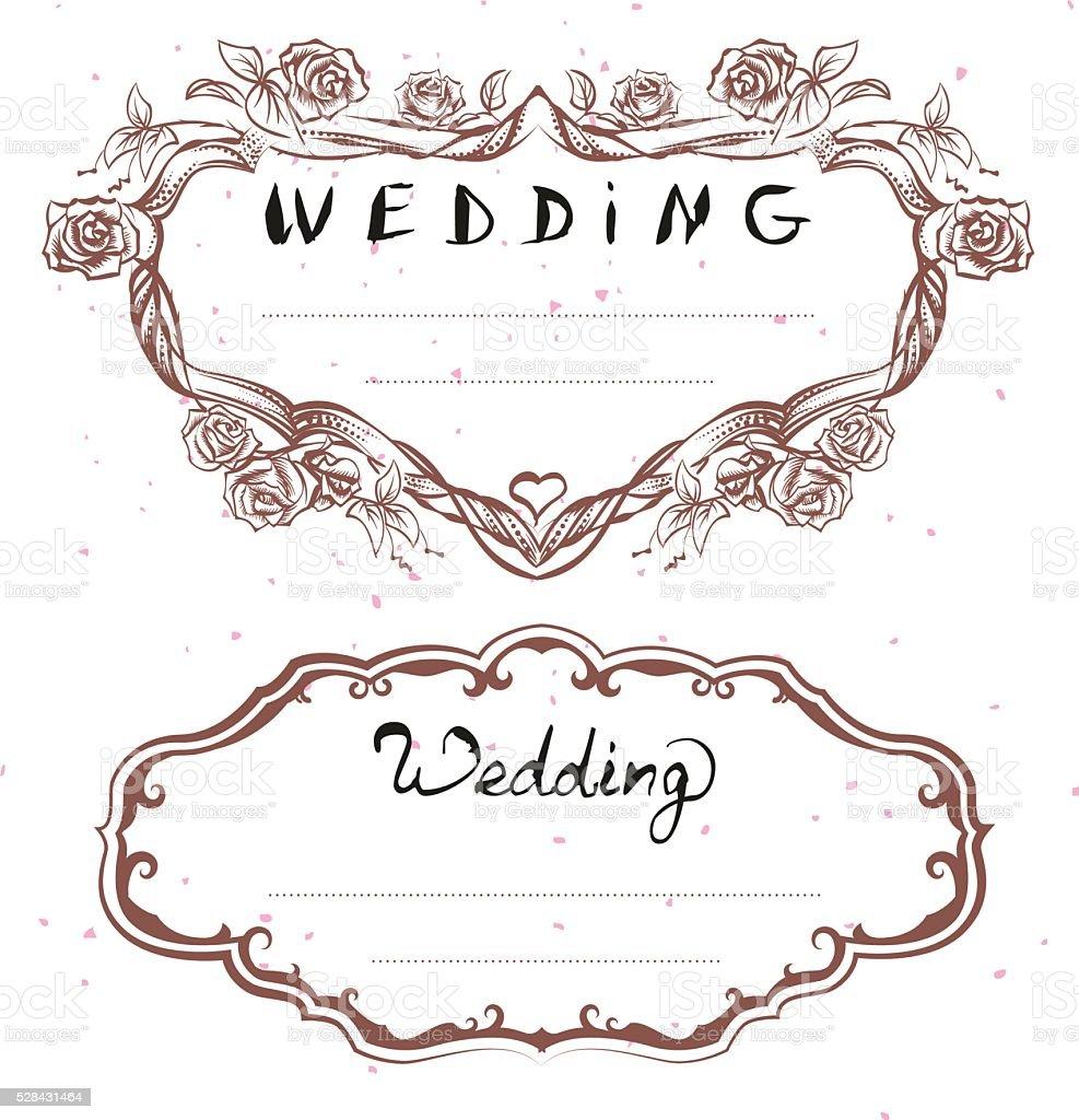 Wesele Tytuł Kwiatowy Ramki ślubne Zaproszenia Napis Tekst Powitania