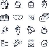 Vector file of wedding icon