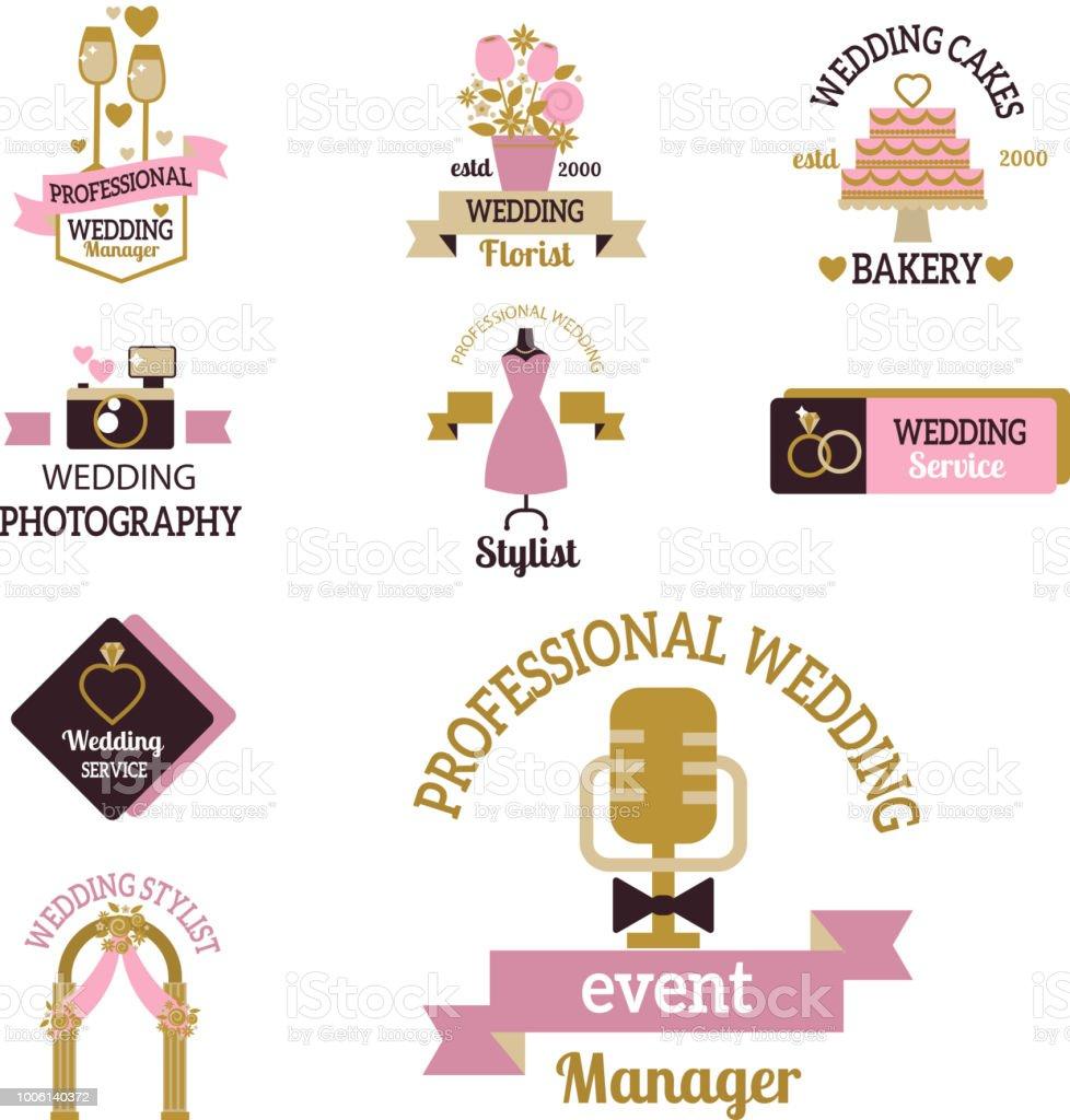Hochzeit Foto Oder Event Agentur Logo Abzeichen Kamera Fotograf ...