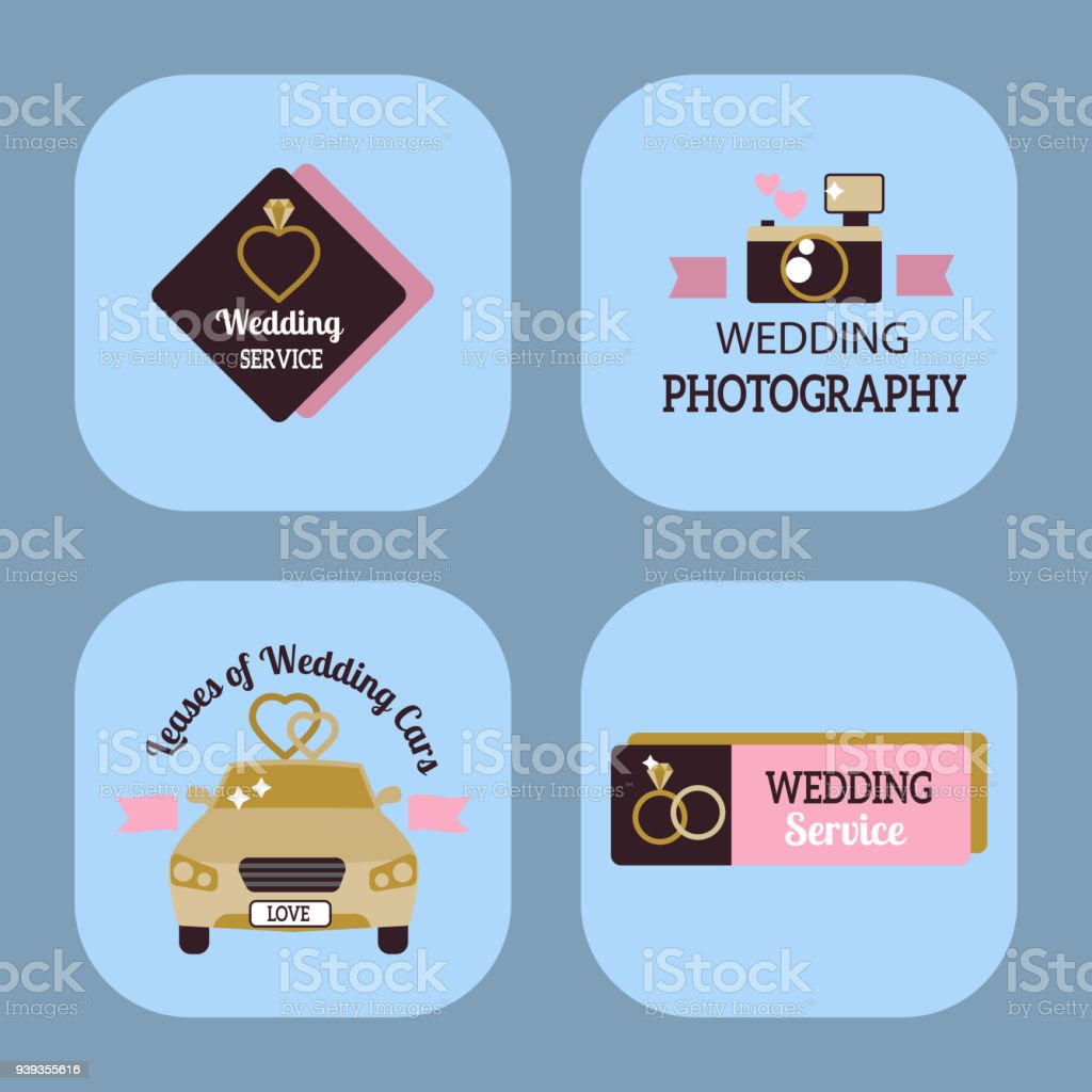 Wedding Vector Photo Or Event Agency Symbol Badge Camera - Event badge template