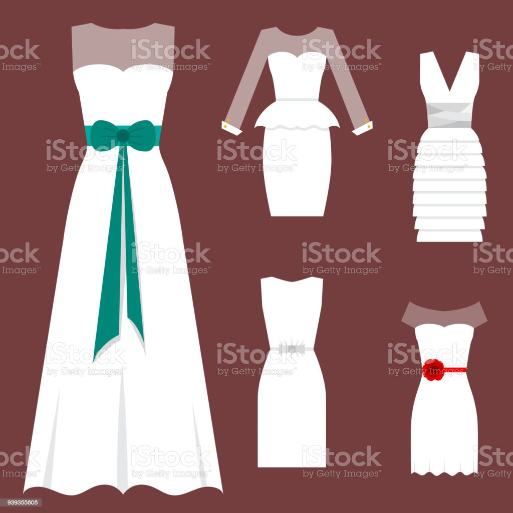 Hochzeit Weiße Braut Kleid Eleganz Mode Stil Feier Brautdusche ...