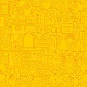 Wedding Yellow Line Tile Pattern