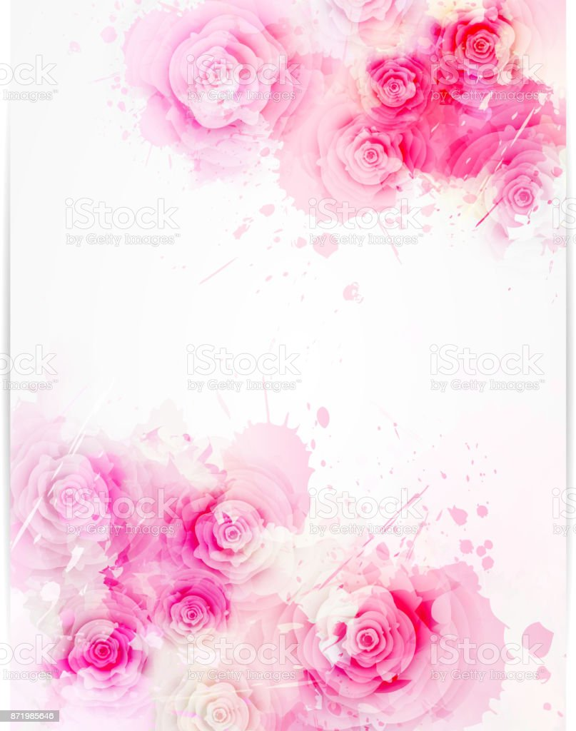 wedding_pink_hearts [Converted] vector art illustration