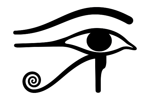 Wedjat. Eye of Horus. Ancient Egyptian symbol