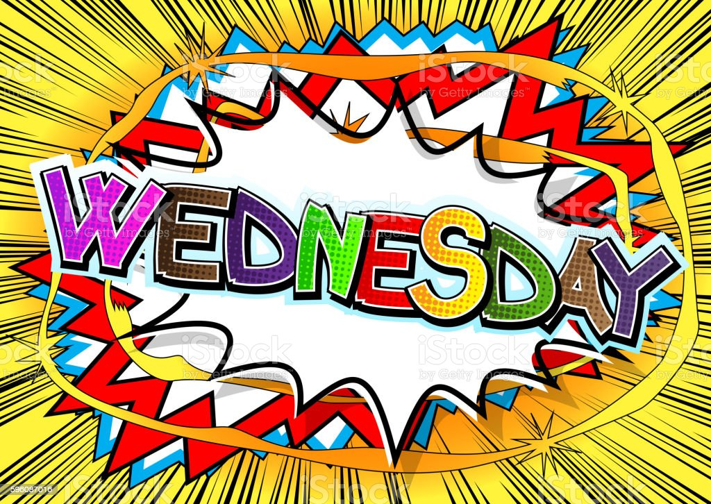 Wednesday - Comic book style word. royalty-free wednesday comic book style word stock vector art & more images of calendar
