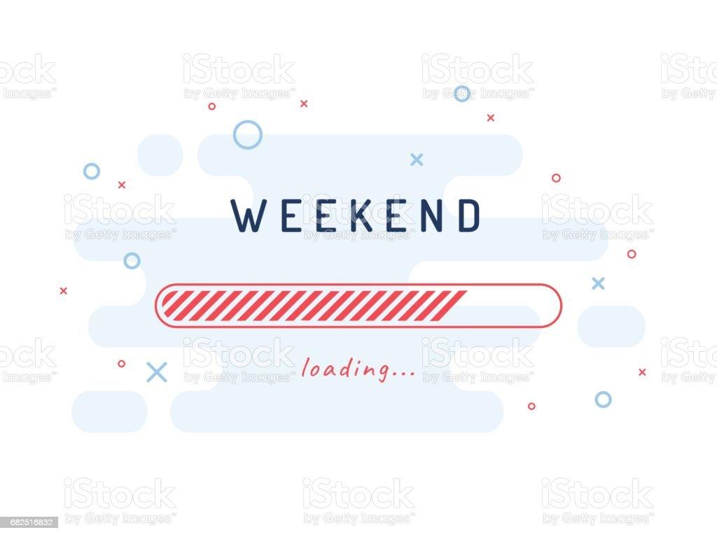 Carga de fin de semana - ilustración vectorial. Fondo azul claro. ilustración de carga de fin de semana ilustración vectorial fondo azul claro y más banco de imágenes de actividad de fin de semana libre de derechos