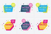 Weekend sale banner, special offer, set sale discount, vector eps10 illustration
