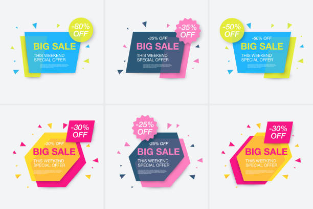 Weekend sale banner, special offer Weekend sale banner, special offer, set sale discount, vector eps10 illustration dealing cards stock illustrations