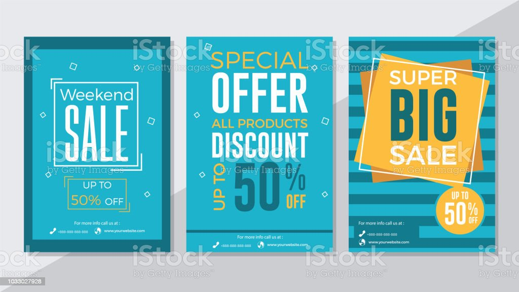 Weekend Sale Special Offer And Super Big Sale Flyer Template Stock
