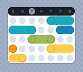 Weekly schedule planner planning for events scheduling circles.