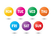 weekly colorful icons