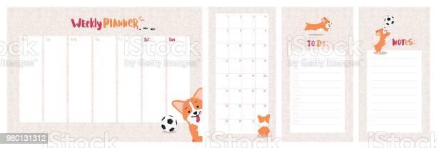 Weekly daily planner and to do list with cute welsh corgi dog vector id980131312?b=1&k=6&m=980131312&s=612x612&h=rfudkgw7me4k1yluu8cknr 8y5uxqqdnbz8z opp0qy=