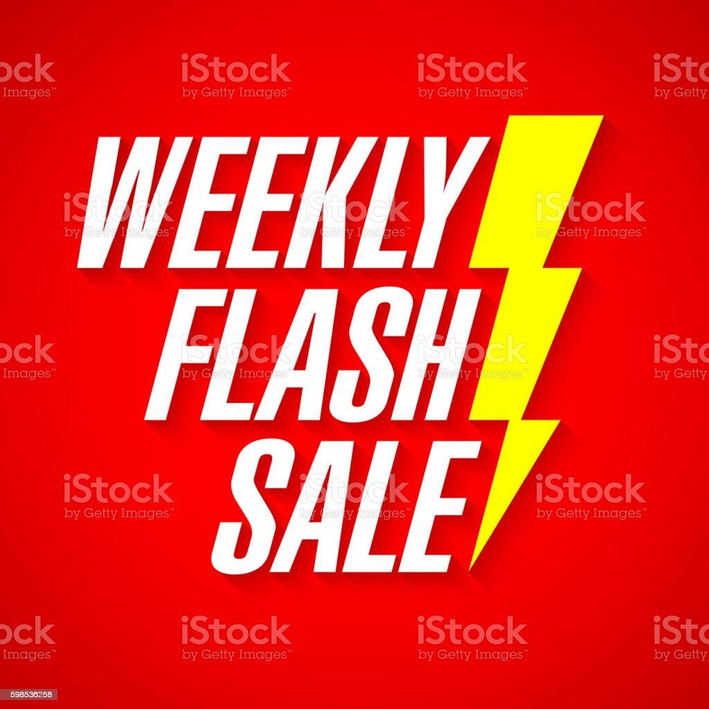 Weekly Flash Sale banner weekly flash sale banner – cliparts vectoriels et plus d'images de acheter libre de droits