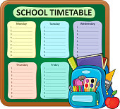 Weekly school timetable composition 5