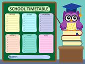 Weekly school timetable subject 2