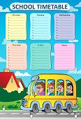 Weekly school timetable theme 8