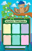 Weekly school timetable topic 1