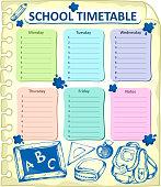 Weekly school timetable topic 4
