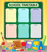 Weekly school timetable topic 6