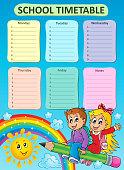Weekly school timetable topic 7