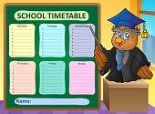 Weekly school timetable topic 8
