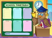Weekly school timetable topic 9