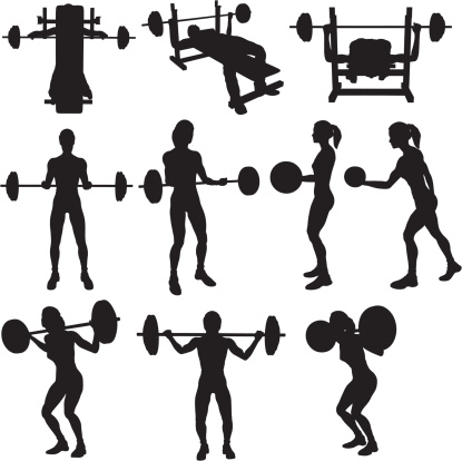 Weigh Lifting Silhouette Collection (vector+raster)