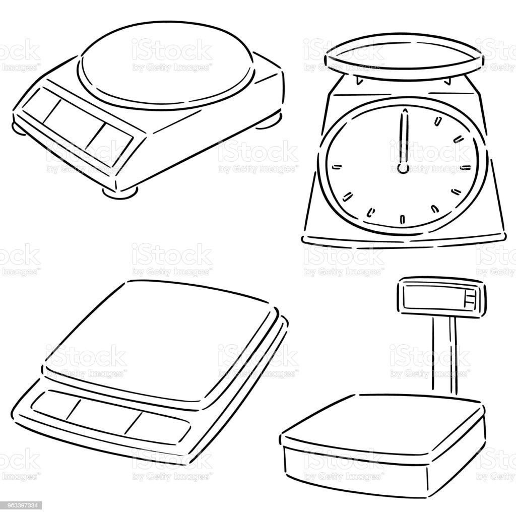 maszyna wagowa - Grafika wektorowa royalty-free (Bazgroły - Rysunek)