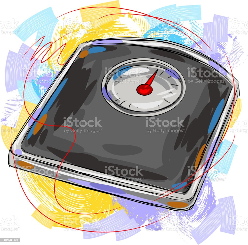 Weighing Scale vector art illustration