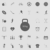 weight icon. Detailed set of Sport icons. Premium quality graphic design sign. One of the collection icons for websites, web design, mobile app