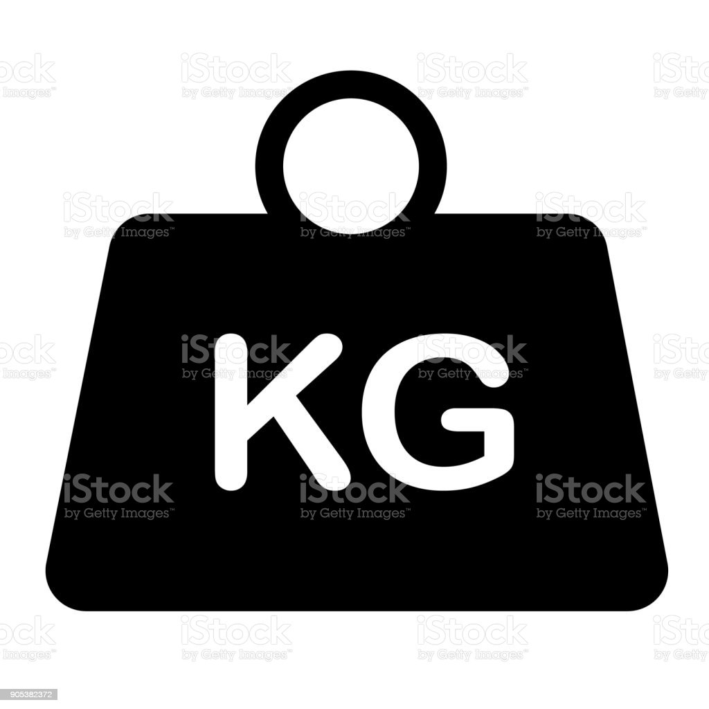 Weight Icon On White Background Flat Style Weight Symbol Weight
