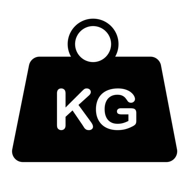 weight icon on white background. flat style. weight symbol. weight kilogram sign. vector art illustration