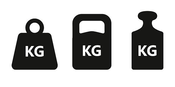 Weight icon set