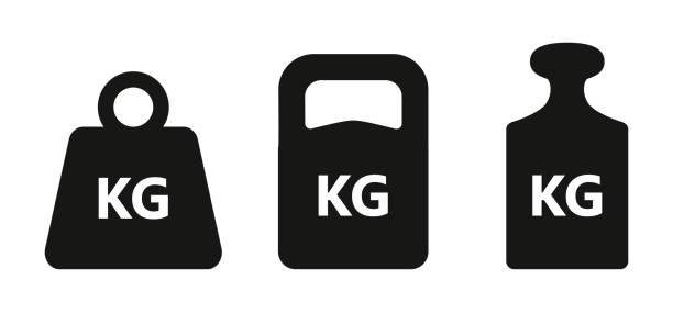 illustrazioni stock, clip art, cartoni animati e icone di tendenza di set di icone peso - peso