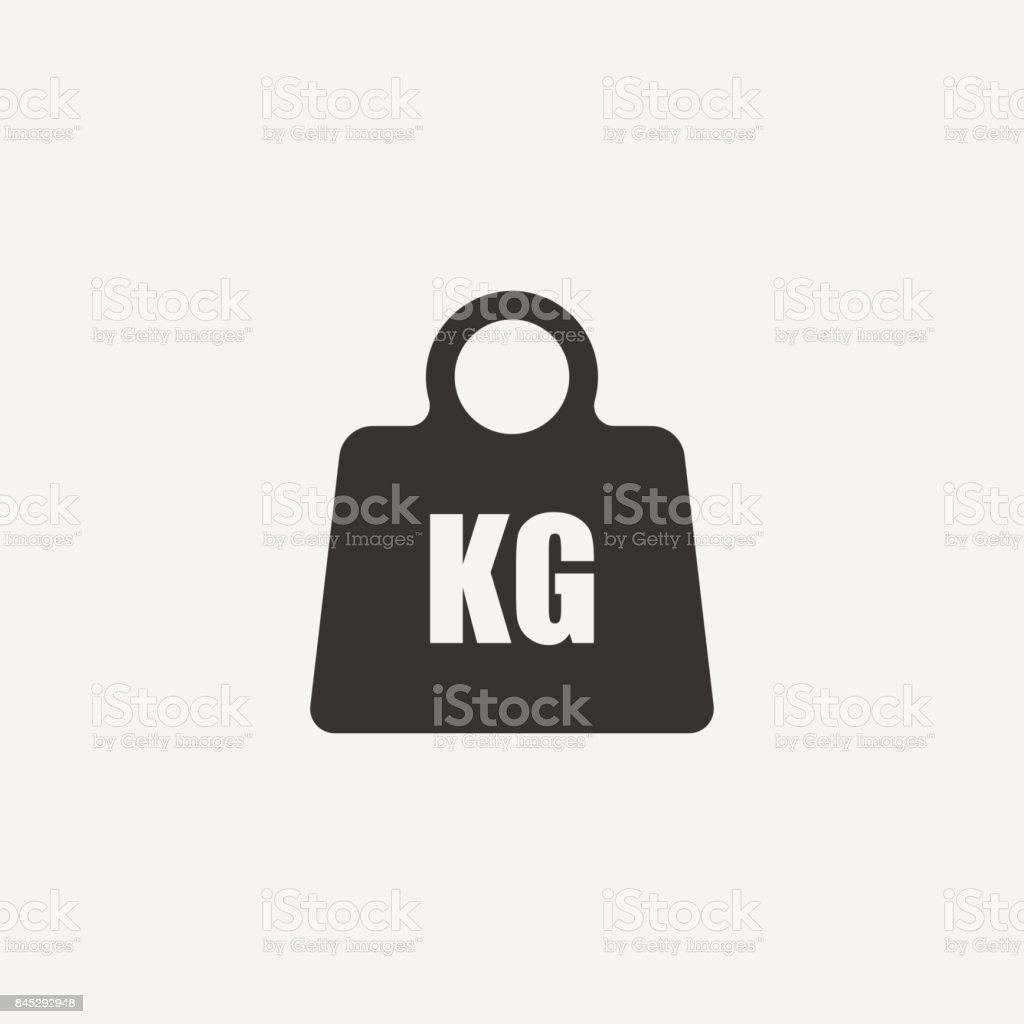 Weight Icon. vector art illustration