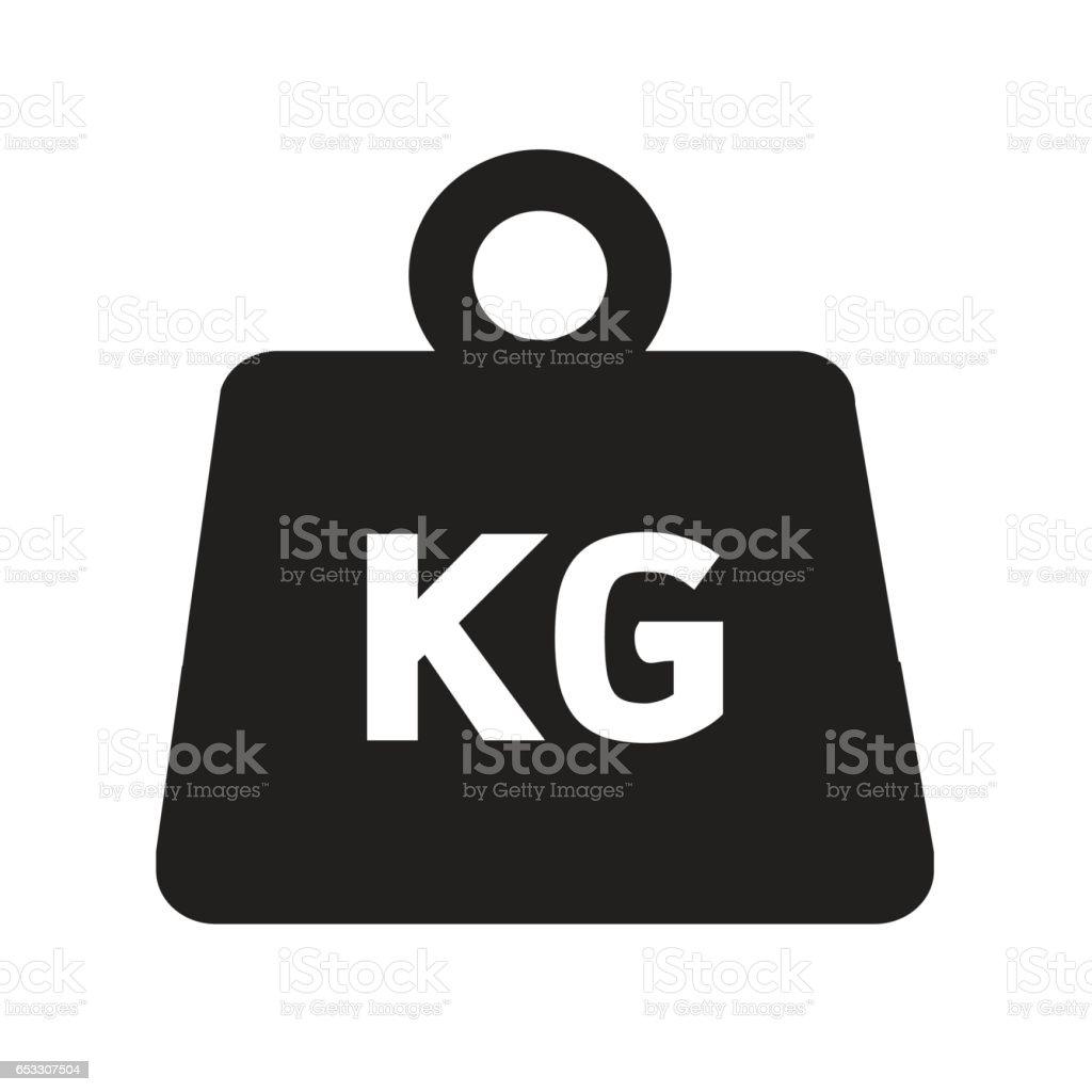 Weight kilogram icon Illustration design vector art illustration