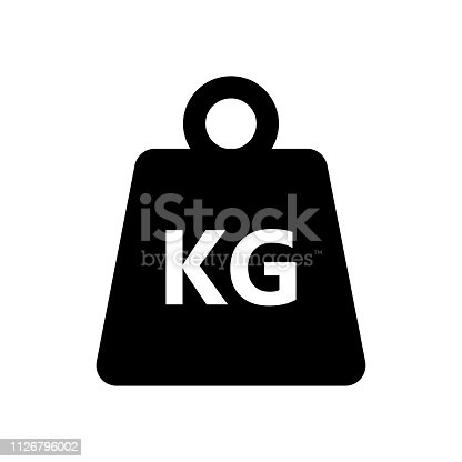 Weight kilogram icon on white background. Vector illustration
