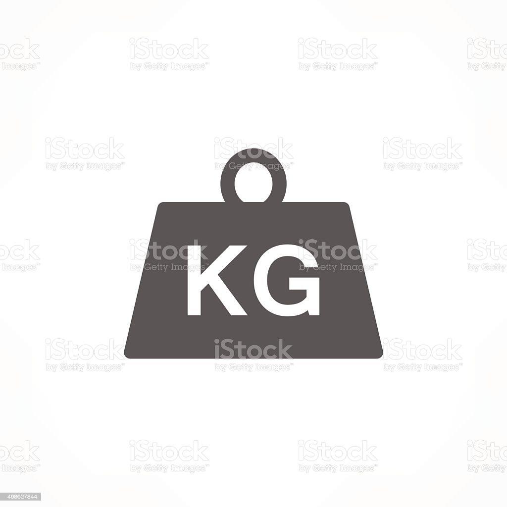 weight kilogram icon vector art illustration