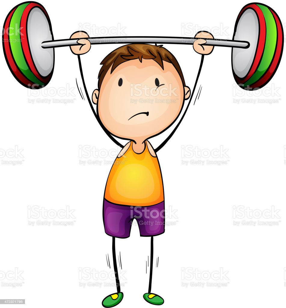 Weight lifter royalty-free stock vector art