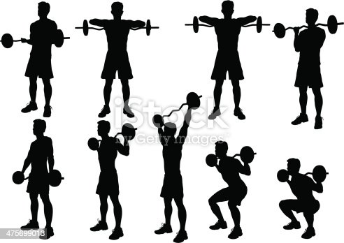 Weight Lifting Silhouette.