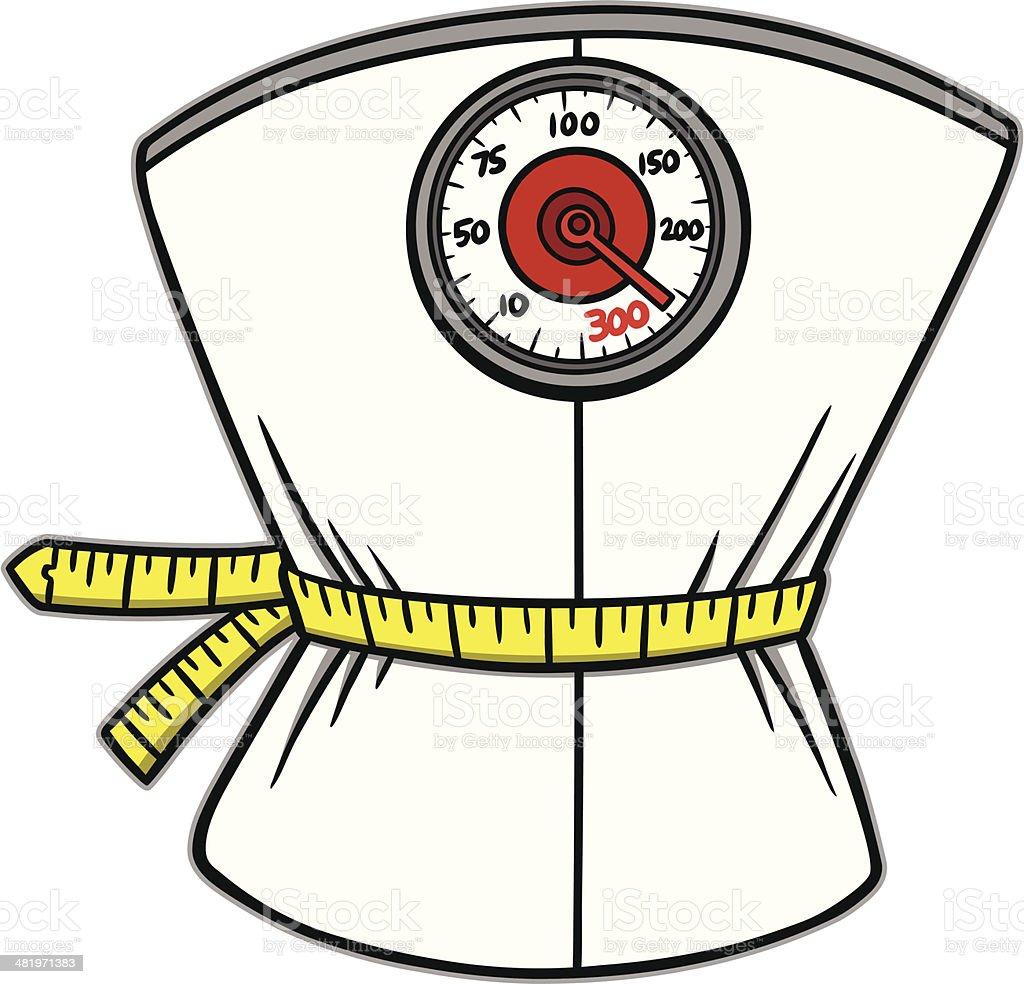 Gewicht Verlust Waage – Vektorgrafik