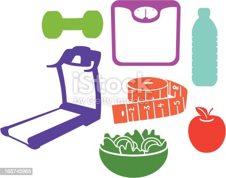 istock Weight Loss Silhouettes 165745965