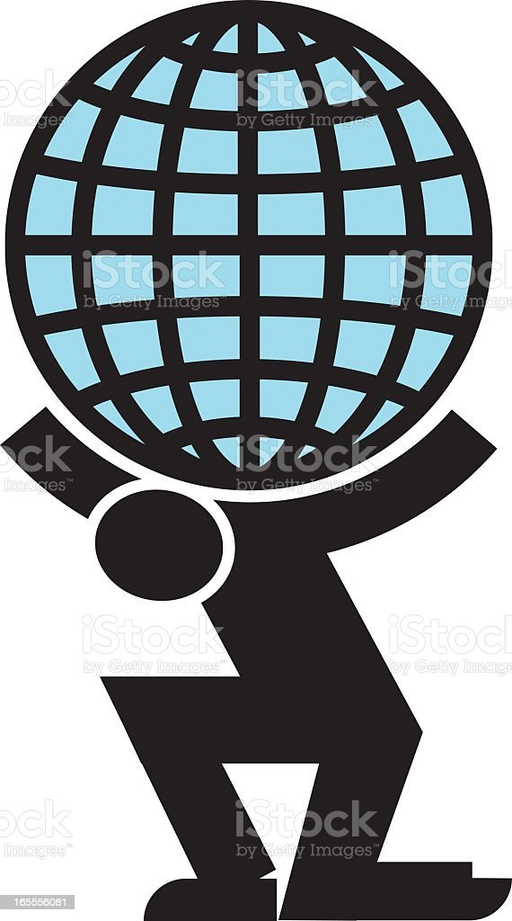 Weight of the world royalty-free stock vector art