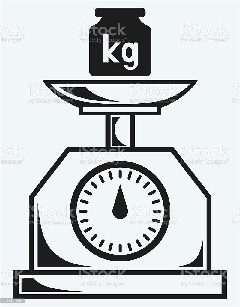 Weight Scale And Weight Kilogram Stock Illustration