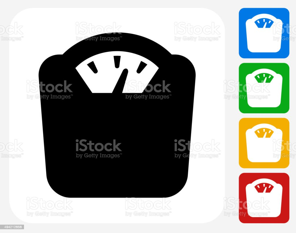 Weight Scale Icon Flat Graphic Design vector art illustration