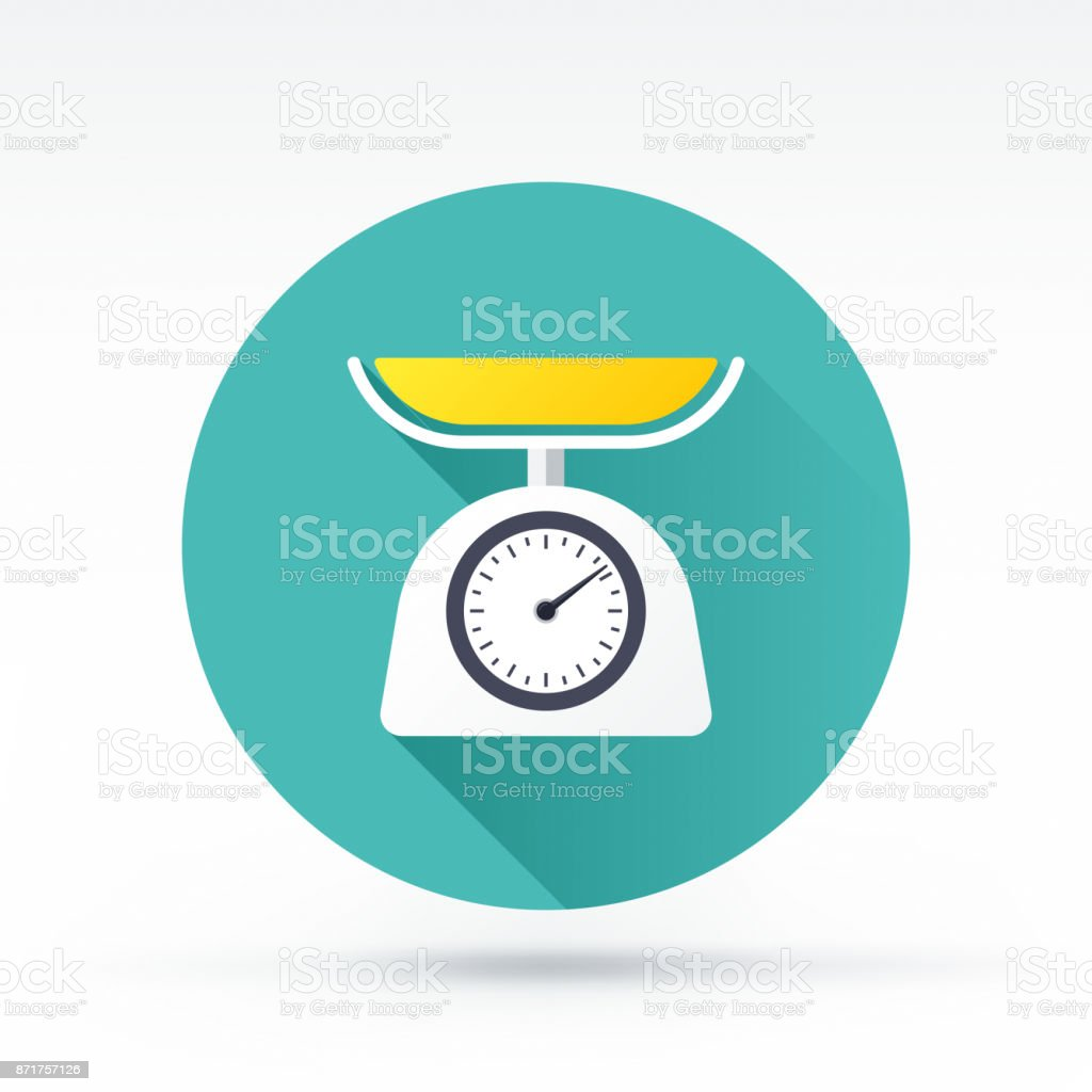 Weight Scale Icon vector art illustration