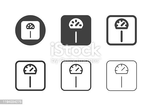 Weight Scale Icons Multi Series Vector EPS File.