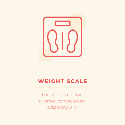 Weight Scale Vector Icon, Stock Illustration