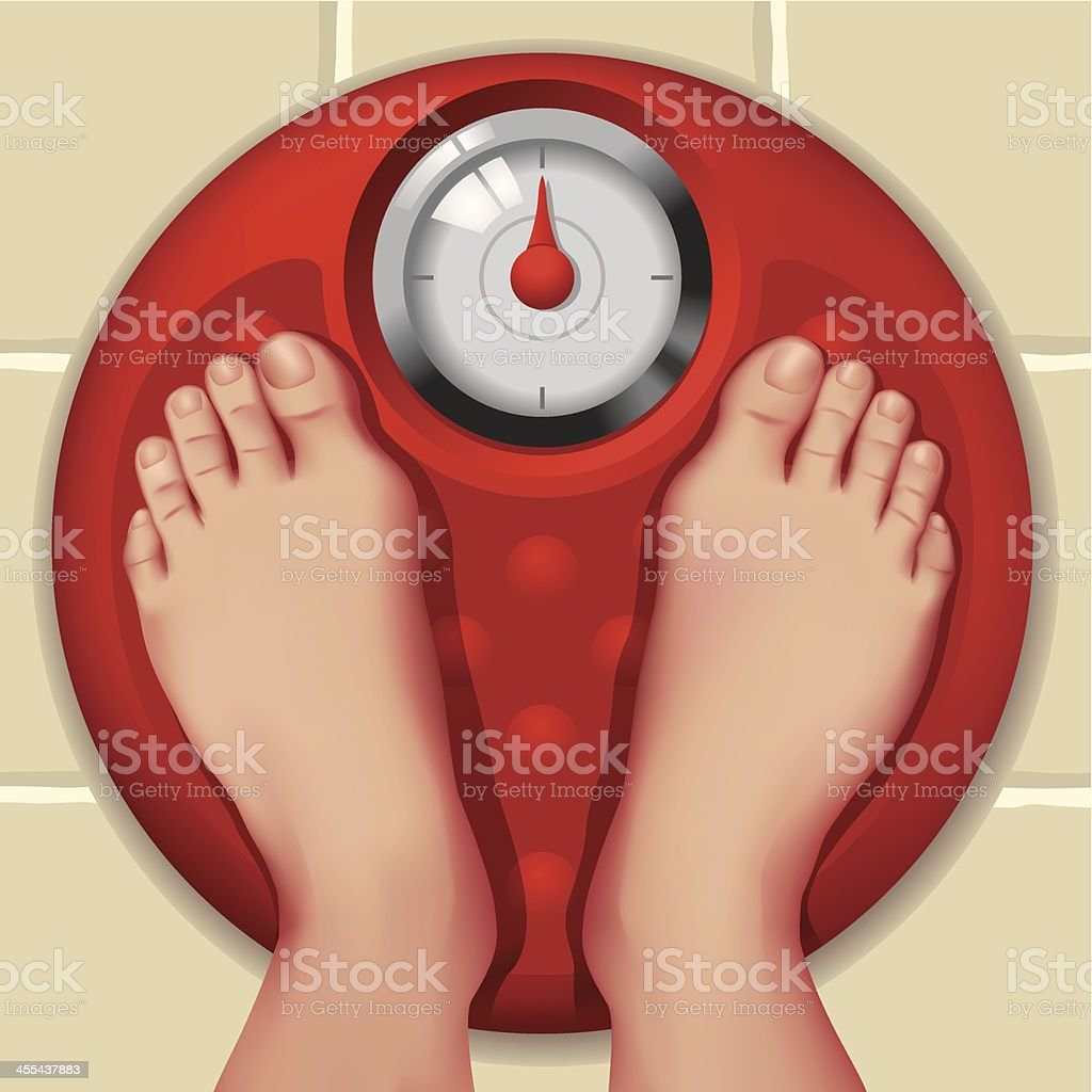 Weight Scale vector art illustration